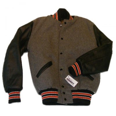 White Bear Wool Body Letter Jacket